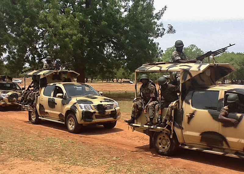 The gruesome video footage gathered by Amnesty International provides fresh evidence of war crimes in north-eastern Nigeria ©EPA.