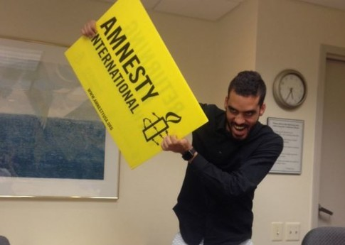 El Sexto during a recent visit to Amnesty International USA in Washington, DC