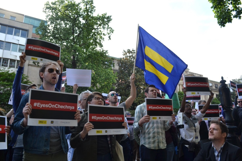 In Washington DC, protesters gathered in front of the residence of the Russian Ambassador demanding an investigation