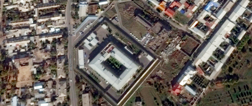 Satellite image of the SNB detention centre where Turkish businessman Vahit Güneş was tortured. The centre is effectively closed to outsiders and no photos can be taken.