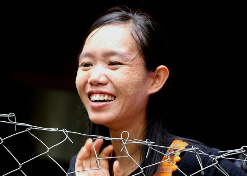 Phyoe Phyoe Aung at court hearings in May 2015. Credit: Private.