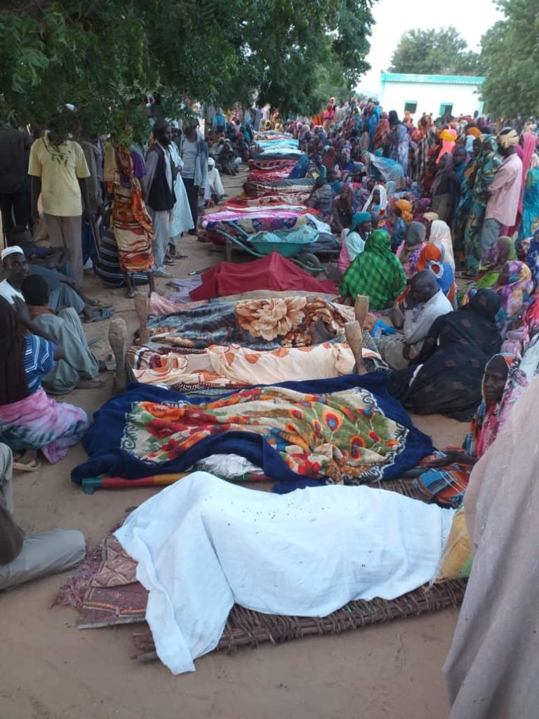 Image from the aftermath of a militia attack on civilians in Masteri, in West Darfur, on 25 July 2020. © Private