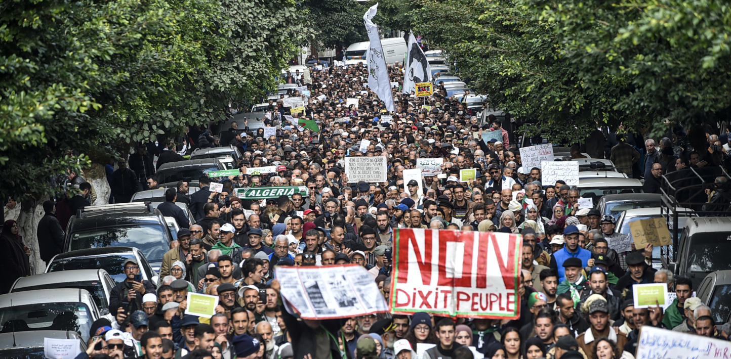 Protest against presidential elections in Algeria