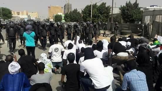 Protesting in Mauritania