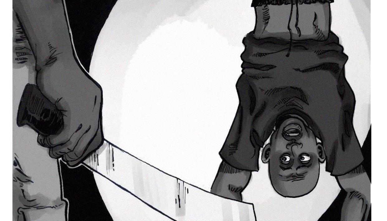 Illustration of a man being tortured
