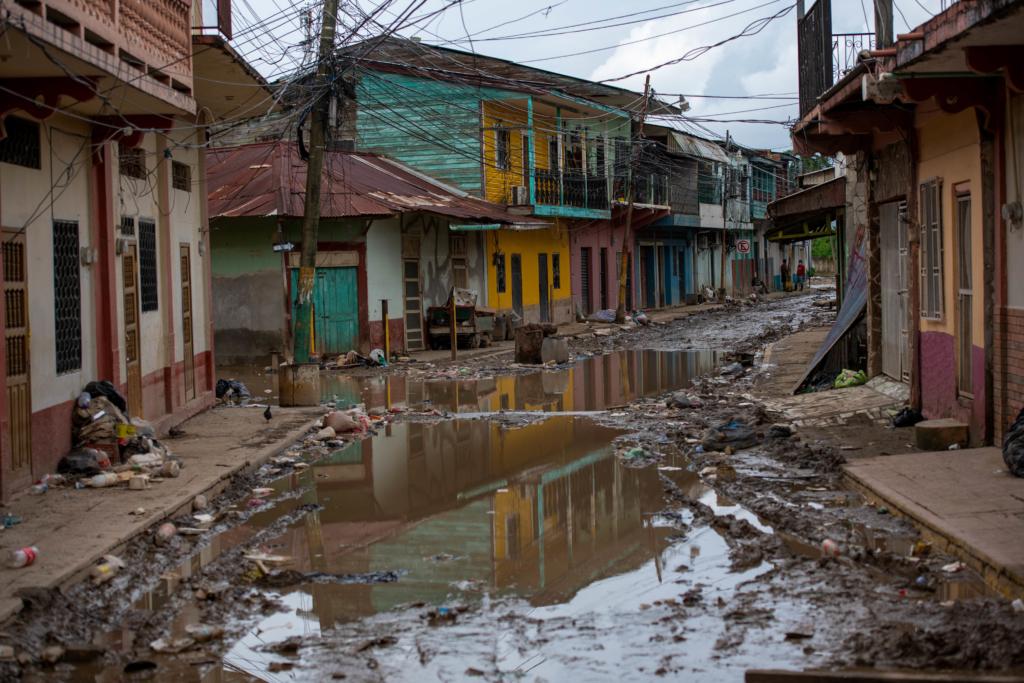 More than 50,000 people were evacuated from La Lima before the arrival of hurricane Iota. Photo: Encarni Pindado